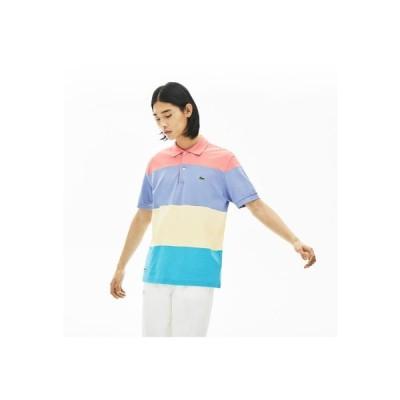 LACOSTE / クラシックフィット マルチカラーブロックデザインポロシャツ (半袖)