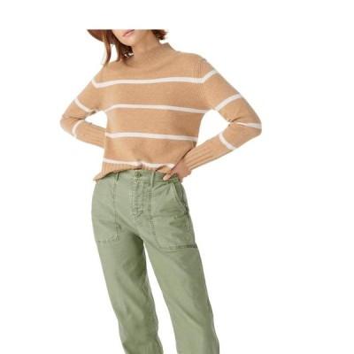 ジェイクルー レディース ニット・セーター アウター Stripe Cashmere Mock Neck Sweater