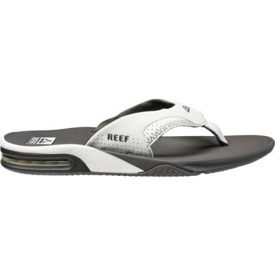 リーフ Reef メンズ ビーチサンダル シューズ・靴 Fanning Flip Flops Grey/White
