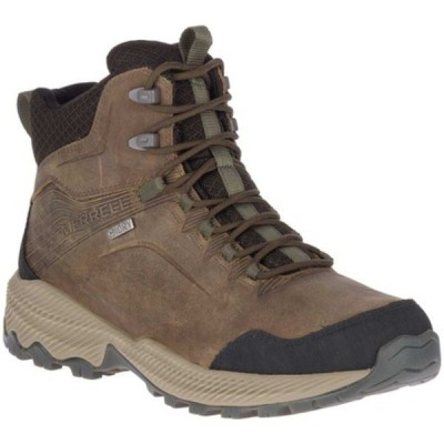 メレル ブーツ&レインブーツ シューズ メンズ Forestbound Mid Waterproof Hiking Boot (Men's) Cloudy Full Grain Leather/Mesh