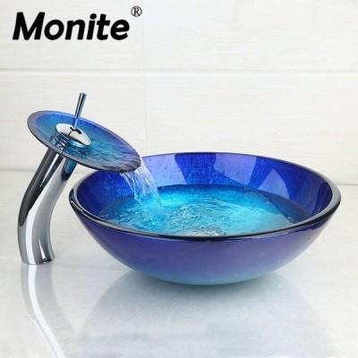 洗面ボウル 蛇口セット アンティーク ヨーロッパ風 YANKSpremimaRT ブルー プレミアムガレージ インテリア 小物 雑貨