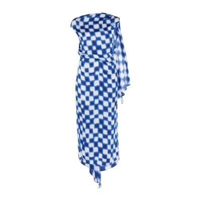 ドリス ヴァン ノッテン DRIES VAN NOTEN 7分丈ワンピース・ドレス ブルー 34 レーヨン 100% 7分丈ワンピース・ドレス