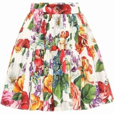 ドルチェandガッバーナ Dolce and Gabbana レディース ミニスカート スカート Floral cotton miniskirt Mix Fiori Fdo Bianco