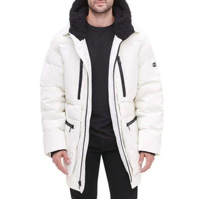 ダナ キャラン ニューヨーク メンズ ジャケット・ブルゾン アウター Long-Sleeve Oversized Sherpa Lined Hood Zip Front Puffer Jacket