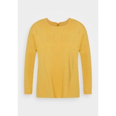 トムテイラーデニム カットソー レディース トップス STRUCTURED TEE - Long sleeved top - indian spice yellow