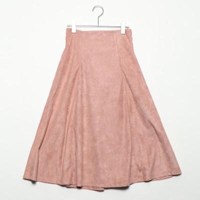 スタイルブロック STYLEBLOCK フェイクスウェードフレアスカート (ピンク)