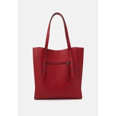 エブンアンドオッド レディース トートバッグ バッグ Tote bag - red red