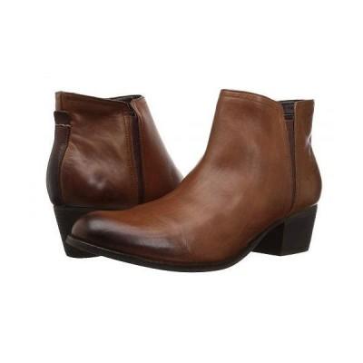 Clarks クラークス レディース 女性用 シューズ 靴 ブーツ アンクルブーツ ショート Maypearl Ramie - Dark Tan Leather