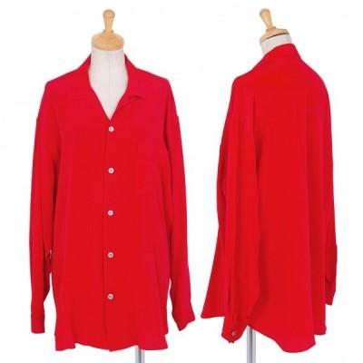 ワイズY's シルクオープンカラーシャツ 赤L位 【レディース】