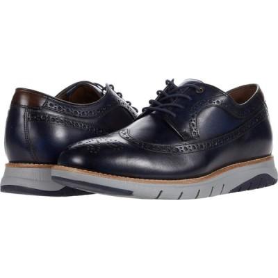 ジョンストンアンドマーフィー J&M Collection メンズ シューズ・靴 ウイングチップ Vaughn Wing Tip Navy