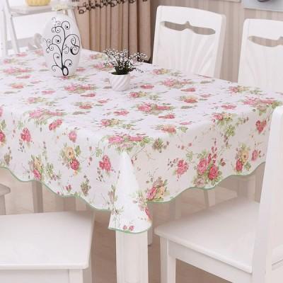 テーブルクロス テーブルマット PVC 防撥水 防油 防塵 厚手 耐熱 多用途 北欧 化粧台カバー 円形  可愛い 長方形