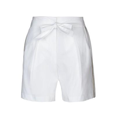 ピンコ PINKO バミューダパンツ ホワイト 40 95% コットン 5% ポリウレタン アセテート メタリック繊維 バミューダパンツ