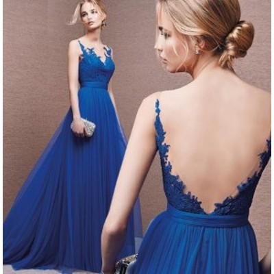花嫁ウェディングドレス/結婚式礼服 / パーティードレス/ワンピース/ドレス ロングタイプスカート イブニングドレス バックレス