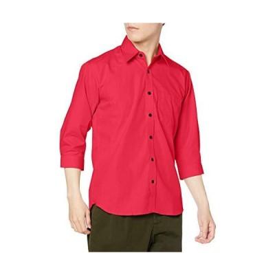 エフスタイル 七分袖シャツ F-STYLE ブロードクロス 七分袖シャツ(男女兼用) F-SD020318 RED 日本 M (日本サイズM