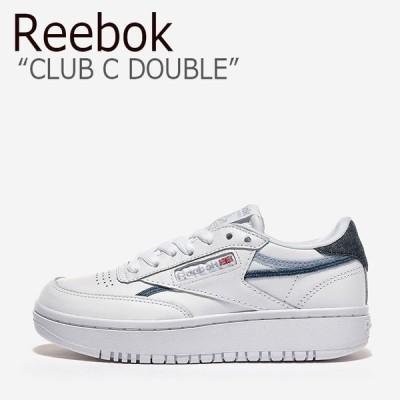 リーボック スニーカー REEBOK CLUB C DOUBLE クラブ C ダブル WHITE ホワイト GRAY グレー NAVY ネイビー INDIGO インディゴ FY5165 シューズ