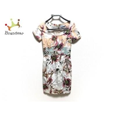 ブルマリン BLUMARINE ワンピース レディース 美品 白×ピンク×マルチ 花柄   スペシャル特価 20200802
