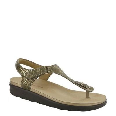 サス レディース サンダル シューズ Marina Snake Print Leather Thong Sandals