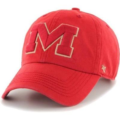 フォーティーセブン メンズ 帽子 アクセサリー '47 Men's Ole Miss Rebels Red Clean Up Adjustable Hat