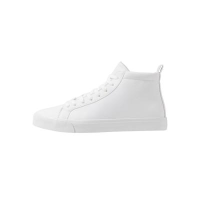 ピアワン スニーカー メンズ シューズ High-top trainers - white