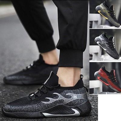 スニーカー メンズ 運動靴 キャンバス柄 ハイカットスニーカー 厚底 メンズスニーカー 紐靴 靴 衝撃吸収 オシャレ アウトドア 春夏