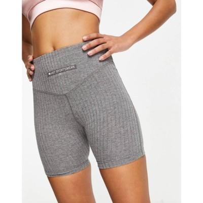 ヒート HIIT レディース ショートパンツ ボトムス・パンツ cotton rib legging shorts in black チャコール