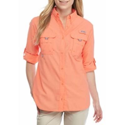 コロンビア レディース シャツ トップス PFG Long Sleeve Button Down Bahama Shirt Tiki Pink