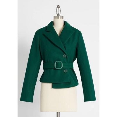 レディース ジャケット アウター all wrapped up belted jacket green