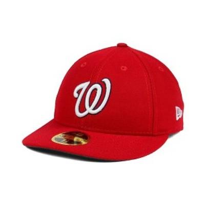 ニューエラ メンズ 帽子 アクセサリー Washington Nationals Low Profile AC Performance 59FIFTY Cap Red