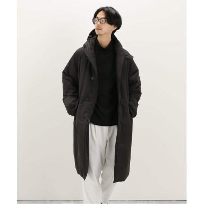 メンズ エディフィス 【COMOLI / コモリ】 インサレーションフーデッドコート ブラック 1