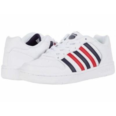K-Swiss ケースイス レディース 女性用 シューズ 靴 スニーカー 運動靴 Court Palisades White/Navy/Red【送料無料】