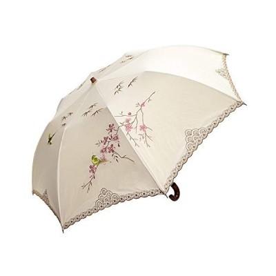日傘 女優日傘 ショップチャンネル 完売 ショート日傘 完全遮光 遮熱 UVカット かわず張り 涼しい 晴雨兼用傘 特殊2重張り 四君子 刺繍 (ベー
