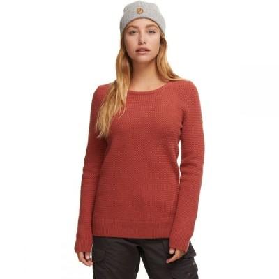 フェールラーベン Fjallraven レディース ニット・セーター トップス Ovik Structure Sweater Terracotta Pink