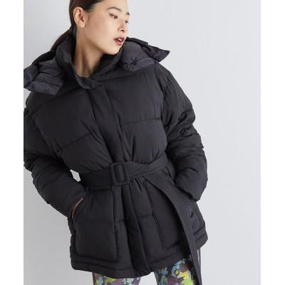 【ナージー】 ベルト付き中綿ジャケット レディース ブラック M NERGY