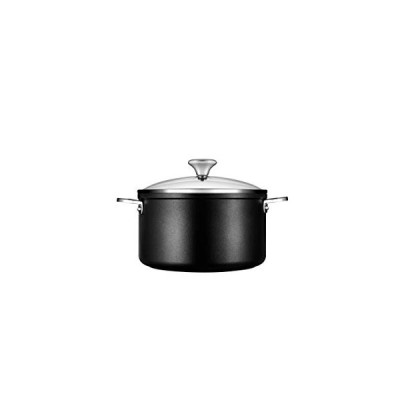 Le Creuset Toughened PRO 6-1/3 qt. Stockpot with Glass Lid Nonstick Cookware, 6.3, Grey【並行輸入品】