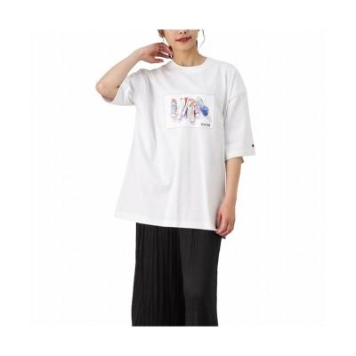 (MAC HOUSE(women)/マックハウス レディース)CONVERSE コンバース 天竺シューズプリントビッグTシャツ 1282-7820-2/レディース ホワイト