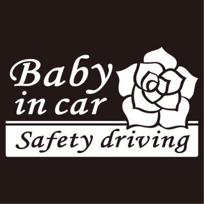 imoninn BABY in car ステッカー 【シンプル版】 No.40 バラ
