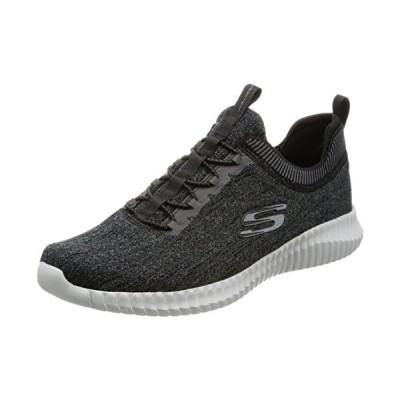 Skechers スポーツ メンズ エリート フレックス-Hartnell ファッション スニーカー, ブラック/Gray, 10 M(海外取寄せ品)