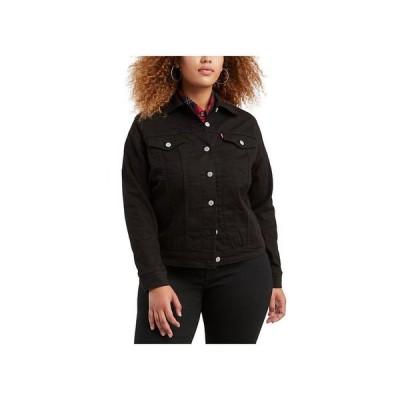 リーバイス レディース ジャケット・ブルゾン アウター Trendy Plus Size Trucker Denim Jacket