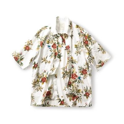 はちどりアロハシャツ〈メンズ〉 サニークラウズ フェリシモ FELISSIMO