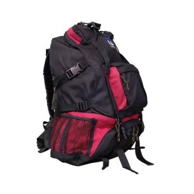 リュックサック デイバッグ/赤色  救急 震災 防災 非常用 持ち出し袋/CLIMBING多機能リュック/大45L  アウトドアにも【9822】