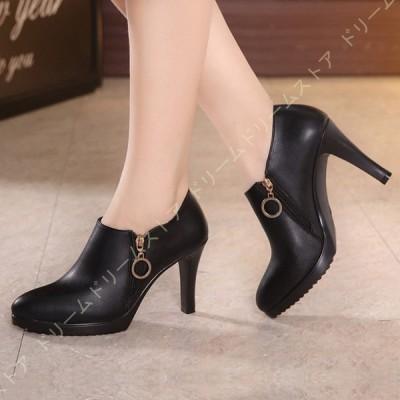 スエード調 パンプス おしゃれ レザー調 美脚パンプス 脱げない 歩きやすい 靴 ヒール ヒール8.5cm 美脚 レディース 厚底パンプス 疲れにくい