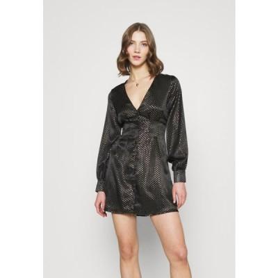 ミスガイデッド レディース ファッション CINCHED WAIST A LINE MINI DRESS - Cocktail dress / Party dress - black
