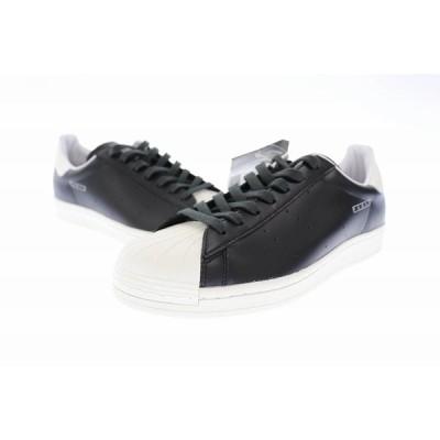 【中古】アディダス adidas Superstar Pure スパースター ピュア スニーカー FV3015 27.5 黒 ブラック 白 ホワイト ブランド古着ベクトル 中古▲■ 201212 0030