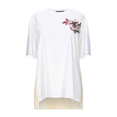 SPORTMAX CODE T シャツ ホワイト XS コットン 50% / レーヨン 50% / ポリエステル T シャツ