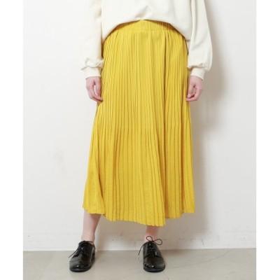 【フレームス レイカズン/frames RAY CASSIN】 けしプリーツスカート