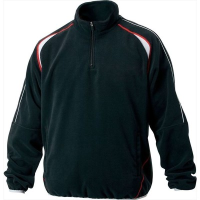 ZETT(ゼット) (メンズ 野球・ソフトボール用ウェア) フリースジャケット 立衿ハーフジップ 裏地付き ブラック