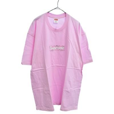 SUPREME(シュプリーム)19AW Bandana Box Logo Tee バンダナボックスロゴ半袖Tシャツ ピンク カットソー
