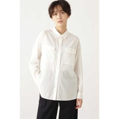 HUMAN WOMAN / ◆キュプラ綿ブロードシャツ
