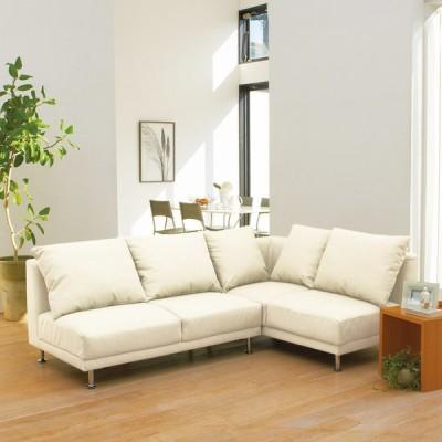 家具 収納 ソファー ソファーセット シンプルスタイルコーナーソファ お得な2点セット 552008