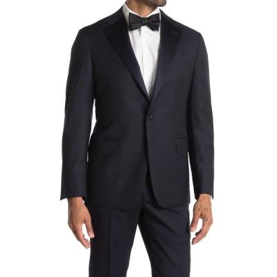 ヒッキーフリーマン メンズ ジャケット&ブルゾン アウター Modern Fit Silk Lapel Blazer Jacket NAVY